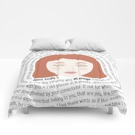 Dana Scully - XF Quotes Comforters