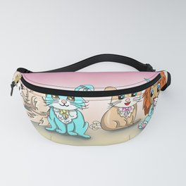 Rabbits with a bunny baby Fanny Pack