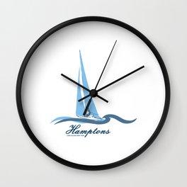 The Hamptons - Long Island. Wall Clock