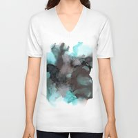 pool V-neck T-shirts featuring Pool by Amie Amyotte
