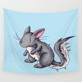 Silver Puffball Wall Tapestry