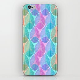 Colored Leaf Skeleton Pattern 2 iPhone Skin