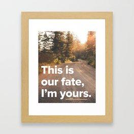 I'm Yours - Jason Mraz Framed Art Print