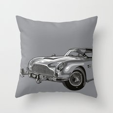 THE Bond Car. Throw Pillow