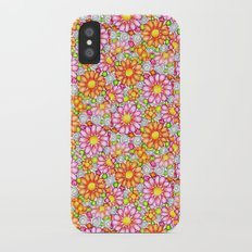 Summer Daisies Tiled Pattern Slim Case iPhone X