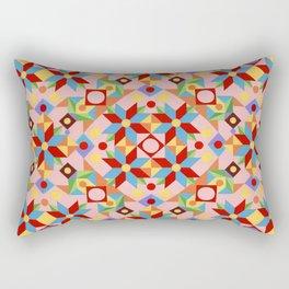 Pink Patchwork Quilt (printed) Rectangular Pillow
