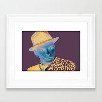 frank sinatra Framed Art Prints featuring Frank Sinatra by MegThebeau