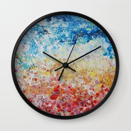 sunset abstract painting Wall Clock