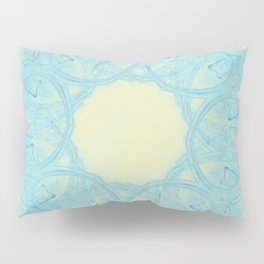 Blue heart mandala Pillow Sham