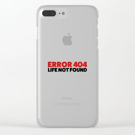 Error 404 Clear iPhone Case