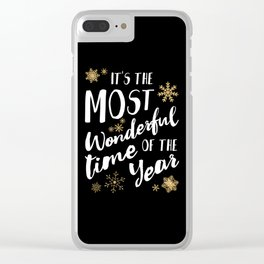 It's the Most Wonderful Time of the Year - Black Clear iPhone Case