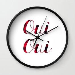 Oui Oui Tartan Wall Clock