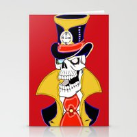 steam punk Stationery Cards featuring Steam Punk Vampire Skull by J&C Creations