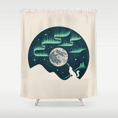 Arctic Tune Shower Curtain