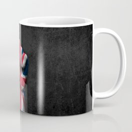 Union Jack Flag of The United Kingdom on a Raised Clenched Fist Coffee Mug