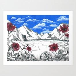 OS CRISANTEMOS Art Print