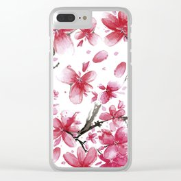 Cherry Blossoms #society6 #buyart Clear iPhone Case