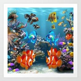 Aquarium Sealife Fish Art Print