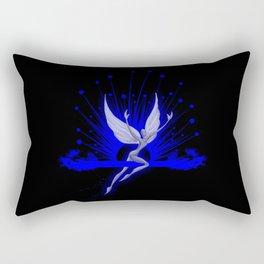 Electric Blue Angel Rectangular Pillow