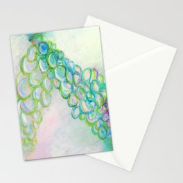 Moving In Different Directions, Abstract Painting Stationery Cards