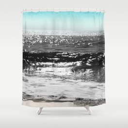 Cascading Waves Shower Curtain