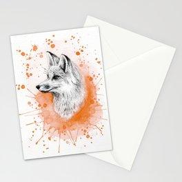 Watercolor Splash Fox Stationery Cards