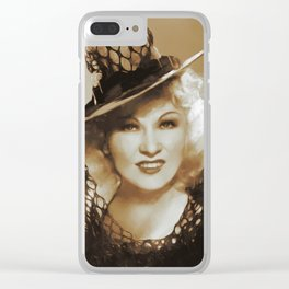 Mae West, Hollywood Legends Clear iPhone Case