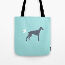 Greyhound farting dog cute funny dog gifts pure breed dogs Tote Bag