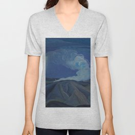 Canadian Landscape Oil Painting Franklin Carmichael Art Nouveau Post-Impression The Nickel Belt 1928 Unisex V-Neck