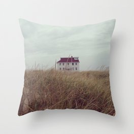 Red House on The Cape Throw Pillow