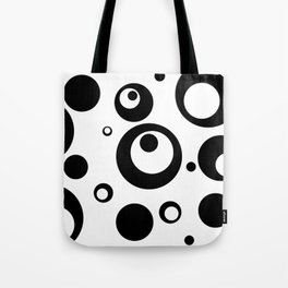Circles Dots Bubbles :: White Salt Tote Bag