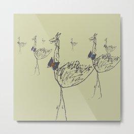 Flamboyant Llama-Ostrich Children - 2 Metal Print