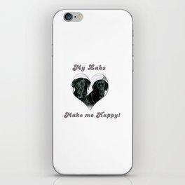 "Lab Love ""My Labs Make me Happy"" iPhone Skin"