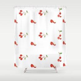 Rambutan - Singapore Tropical Fruits Series Shower Curtain