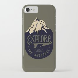Explore the outdoors iPhone Case