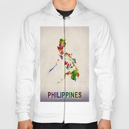 Philippines Map in Watercolor Hoody