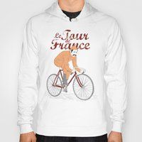 tour de france Hoodies featuring tour de france by cikuta