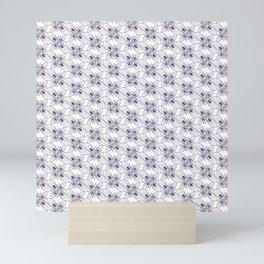 simple floral batik pattern Mini Art Print