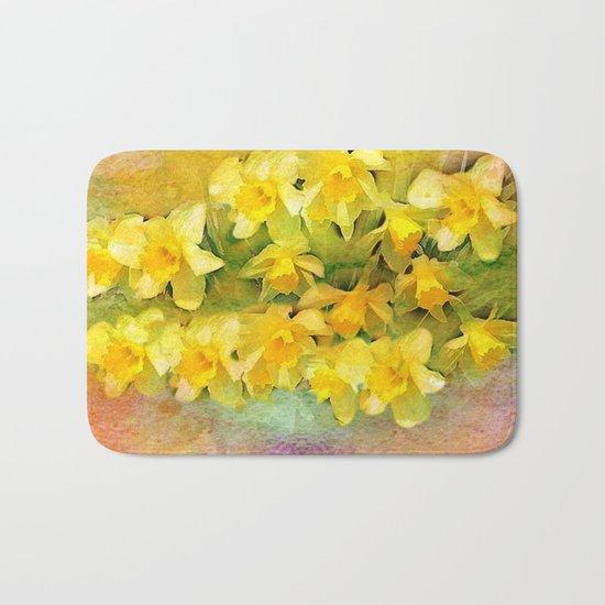 A Little Bit of Spring - Painterly Bath Mat