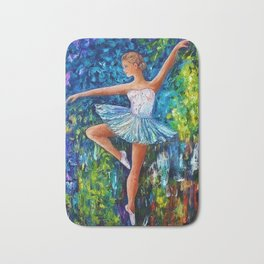 Dance In The Rain Of Color Bath Mat