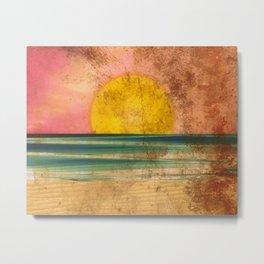 Ocean Sunset Vintage 2.0 Metal Print
