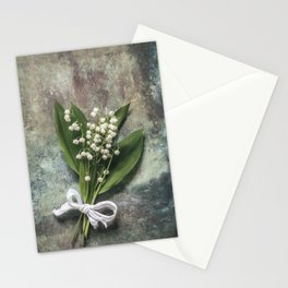 Beautiful Lily Of The Valley Stationery Cards
