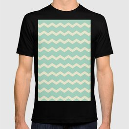 Chevron in Seamist and Sand T-shirt