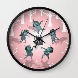 Little Monster Mashers Wall Clock
