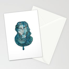 A Day in Blue Stationery Cards