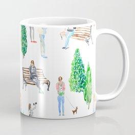 girls in the park pattern Coffee Mug