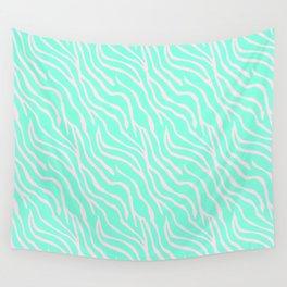 Green zebra Wall Tapestry
