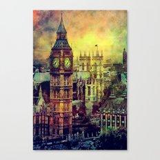 London Big Ben watercolor Canvas Print