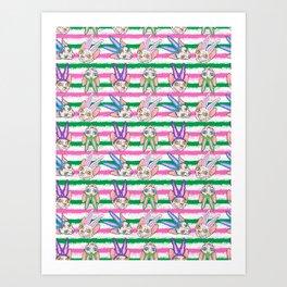 easter sphynx stripes Art Print