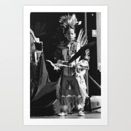 Ready for the stage Art Print
